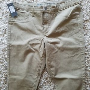 Mossimo khaki jeggings 14 short
